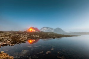 Tevno lake hut in Pirin Mountain