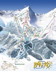 ski pistes in Bansko